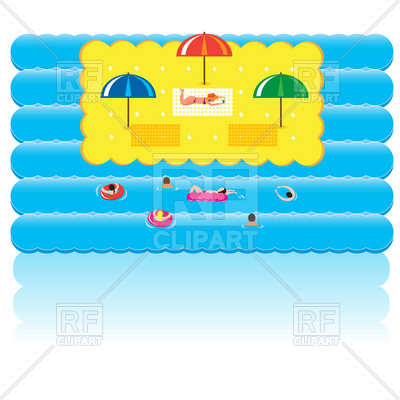 400x400 Summer Holidays And Relaxation Near Sea Royalty Free Vector Clip