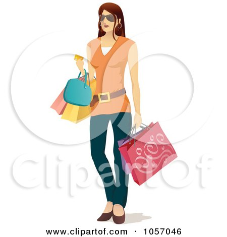 450x470 Royalty Free Vector Clip Art Illustration Of A Stylish Black Woman