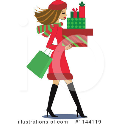 400x420 Christmas Shopping Clipart