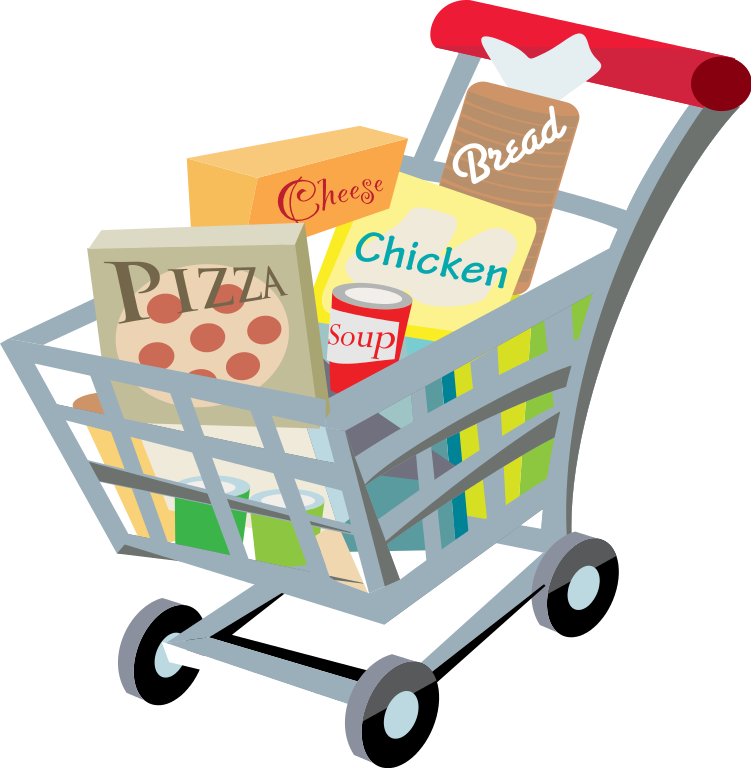 751x768 Fileshopping Cart With Food Clip Art 2.svg