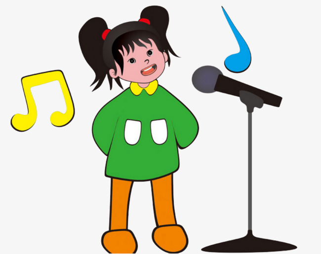 650x515 A Little Girl Singing, Note, Children Singing, Sing Png Image