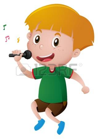317x450 Singer Clipart Boy Singer'08736