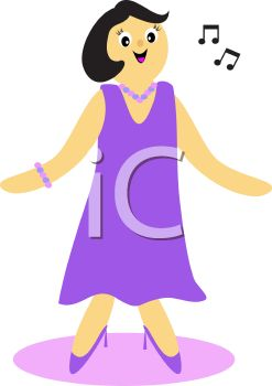 247x350 Singer Clipart Woman Singer