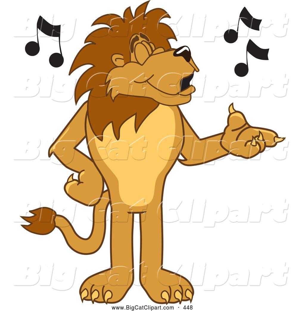 1024x1044 Big Cat Cartoon Vector Clipart Of A Happy Lion Character Mascot