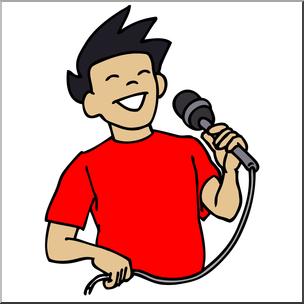 304x304 Clip Art Boy Singing Color I Abcteach