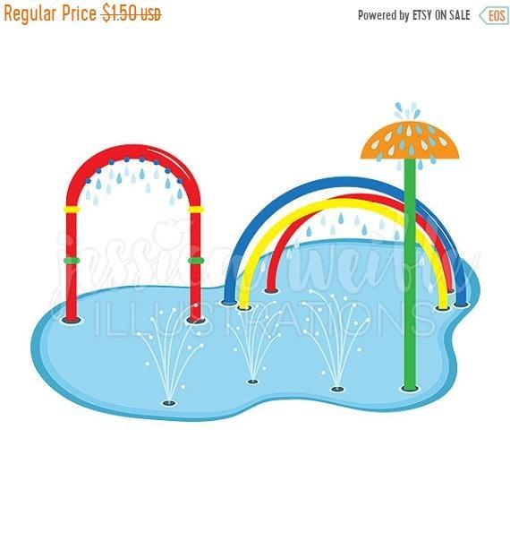 570x604 On Sale Splash Pad Clip Art Cute Digital Clipart Water Park