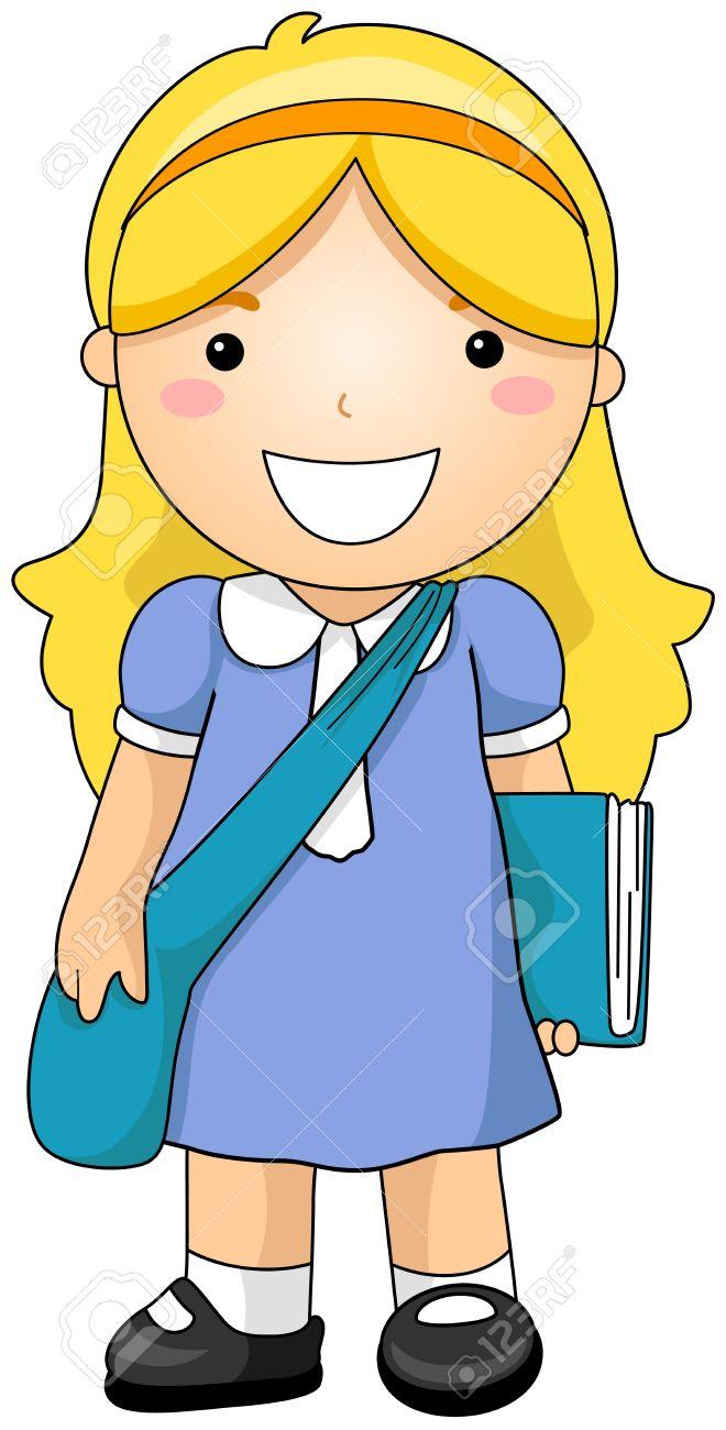 660x1300 Pretty Girl Student Clipart