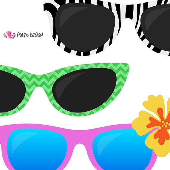 570x570 50 Sunglasses Clipart. Digital Sunglasses Clip Art, Pool Party