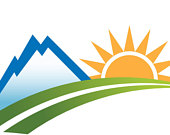 170x135 Items Similar To Clip Art To Print Or Web. Mountain Road Sun Logo