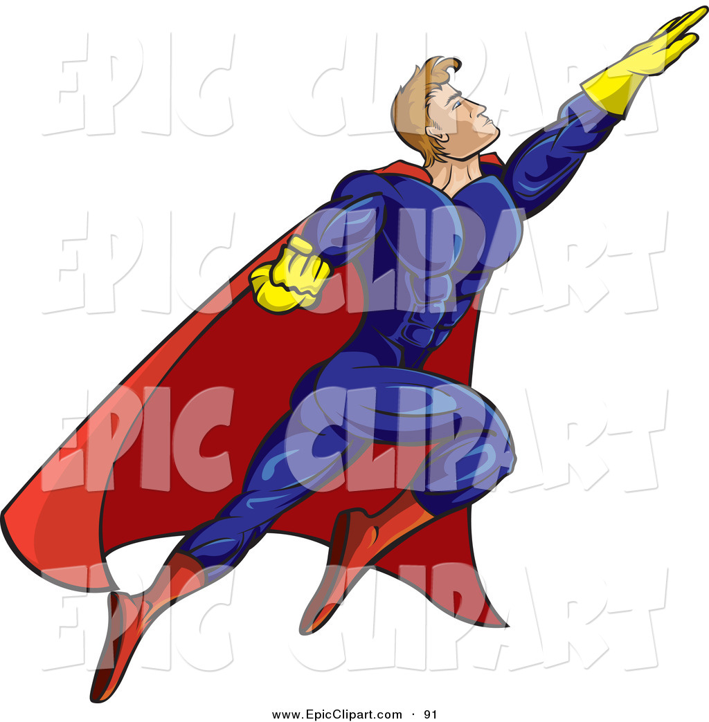 1024x1044 Vector Cliprt Of Strong Flying Male Super Hero Person In