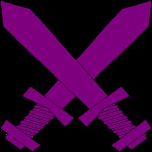 300x300 Purple Crossed Swords Clip Art