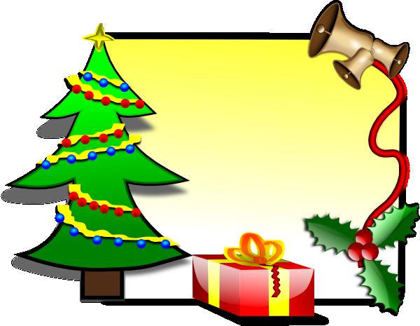 600x465 Christmas Card Template Clip Art