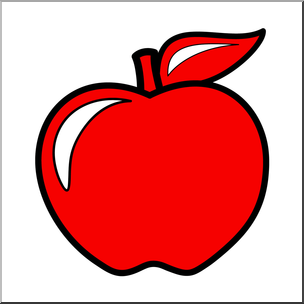 304x304 Clip Art Colors Apple 01 Red Color I Abcteach