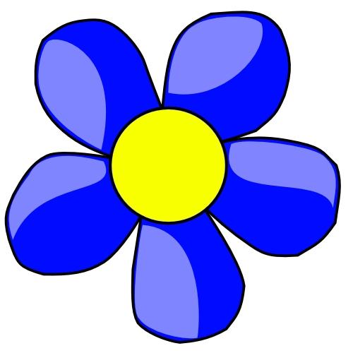500x500 Flower Clip Art Color Blue Color Clipart Clipart Panda Free