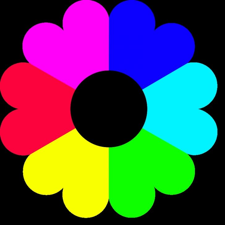 728x728 Flowers Clip Art To Color