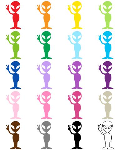391x480 Alien Clip Art Myrainbowunicorn