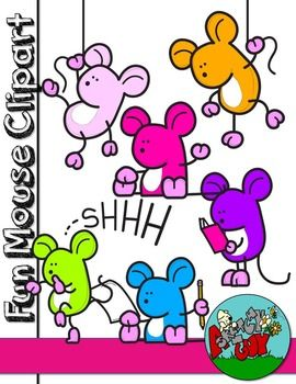 270x350 Fun Mouse Freebie Graphic Clip Art Included Are 36 Color, 6