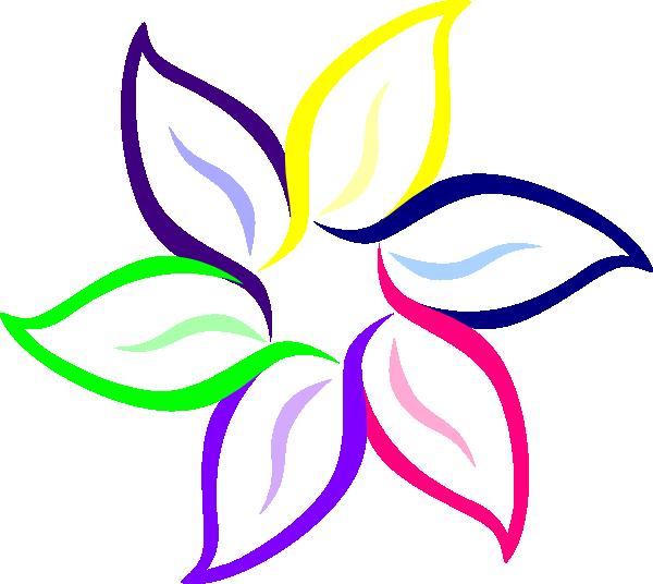 600x536 Multi Color Flower Clip Art