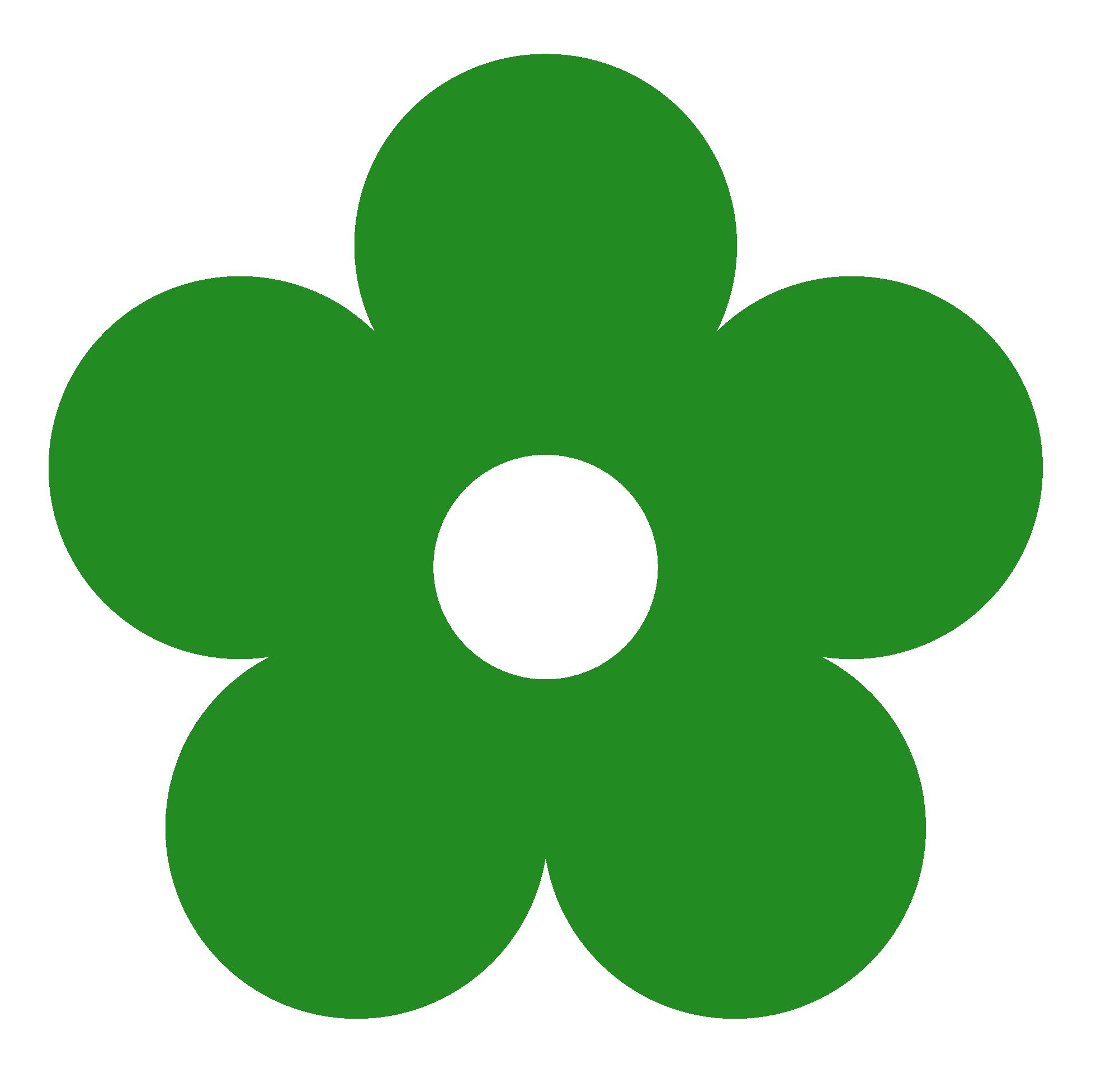 1969x1952 Captivating Forest Green Color 18 Clip Art Retro Flower 1 Colour