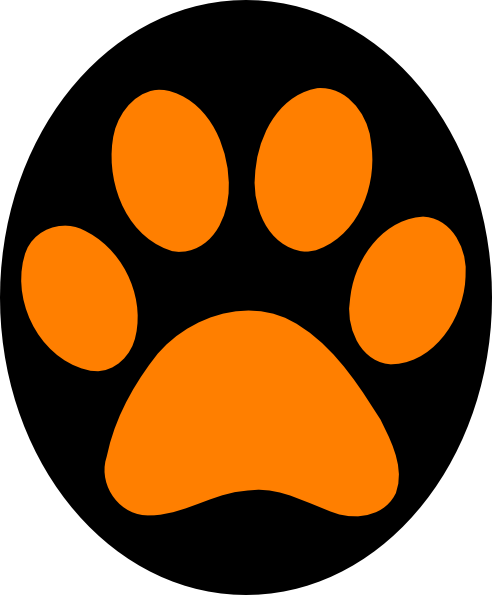 492x595 Paw Print Graphic Can'T Find The Perfect Clip Art Team Spirit