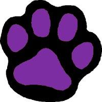 200x200 Purple Paw Print Clip Art Clipart