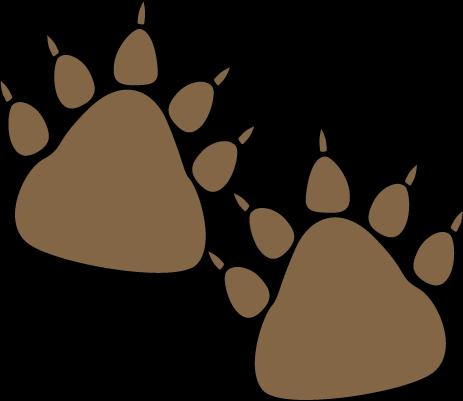 463x401 Bear Paw Print Clip Art
