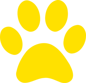 299x288 Yellow Paw Print Clip Art