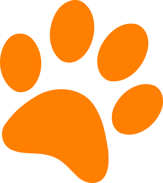 528x595 Orange Paw Print Clip Art Orange Paw Print Clip Art