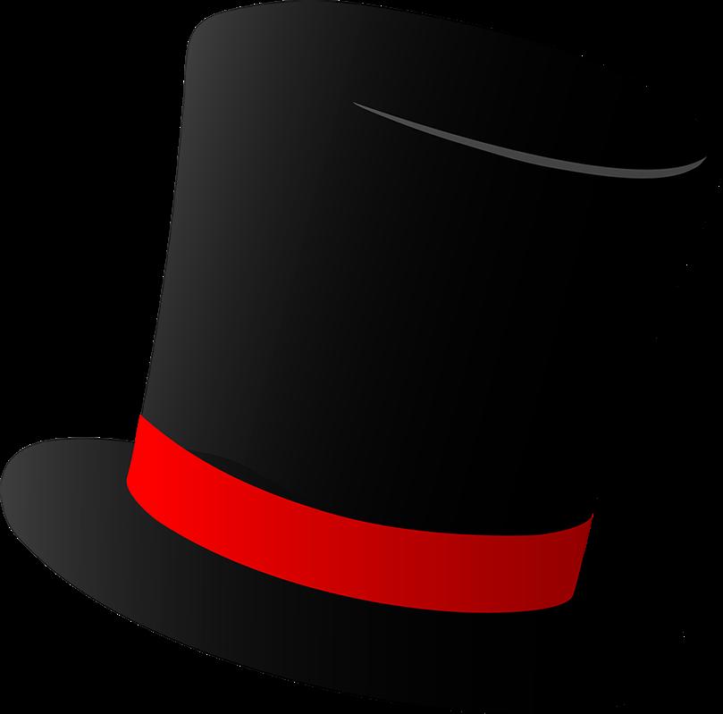 809x799 Magic Academy Top Hat Cap Clip Art