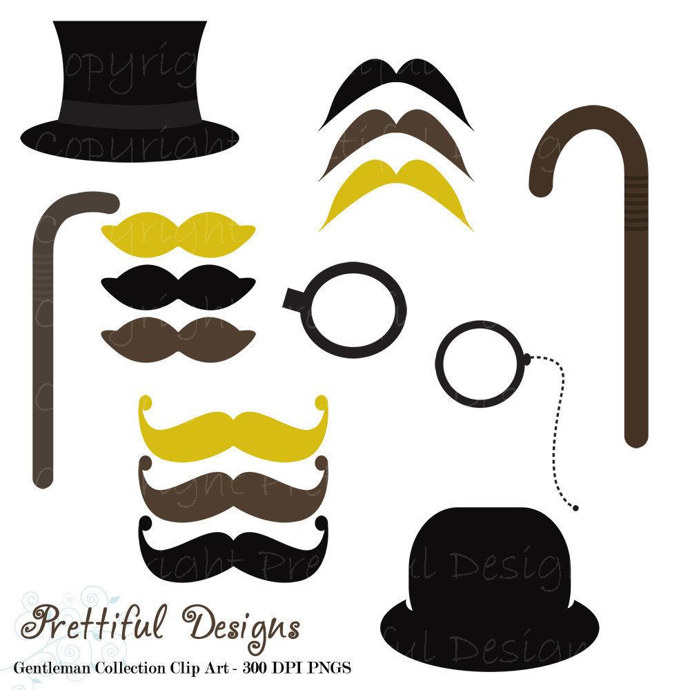 1000x1000 Mustache Clip Art Top Hat Monocle And Cane Gentleman Clipart