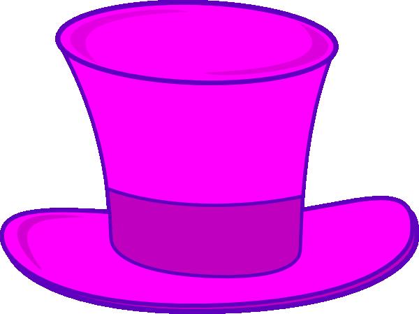 600x449 Pink Top Hat Clip Art