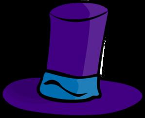 298x243 Purple Top Hat Clip Art