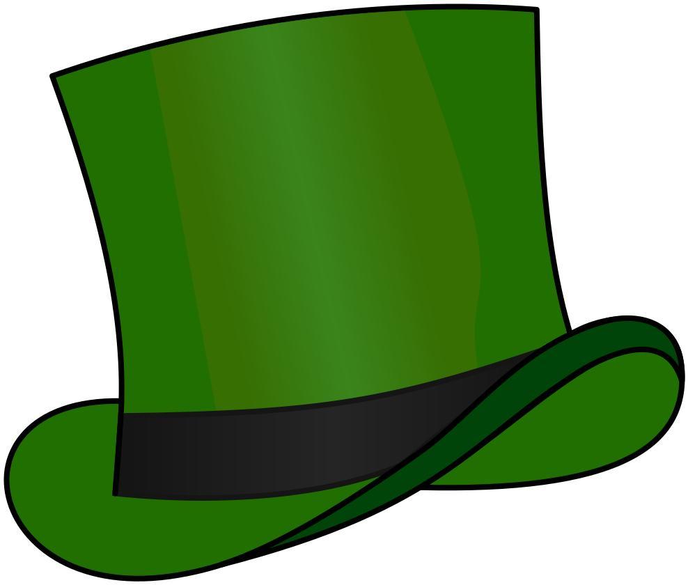 988x840 Top Hat Green Clipart