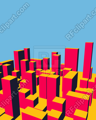 319x400 Skyline. Abstract Town. Royalty Free Vector Clip Art Image