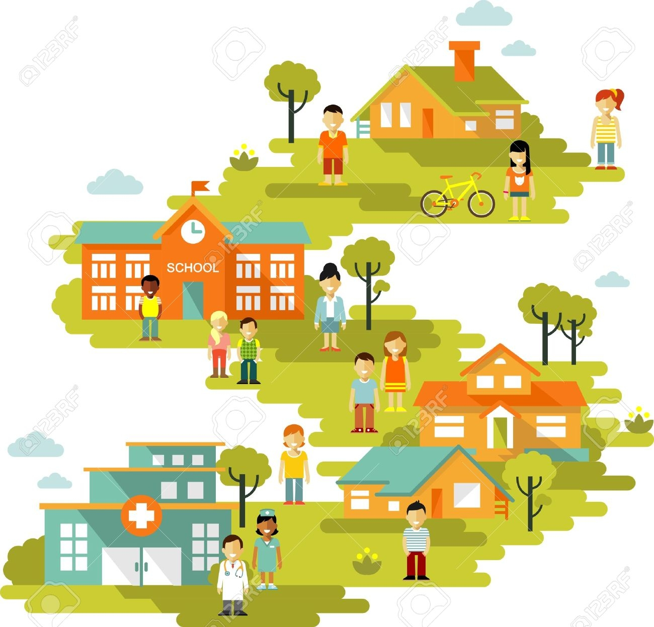 1300x1247 Awesome Town Clipart Design
