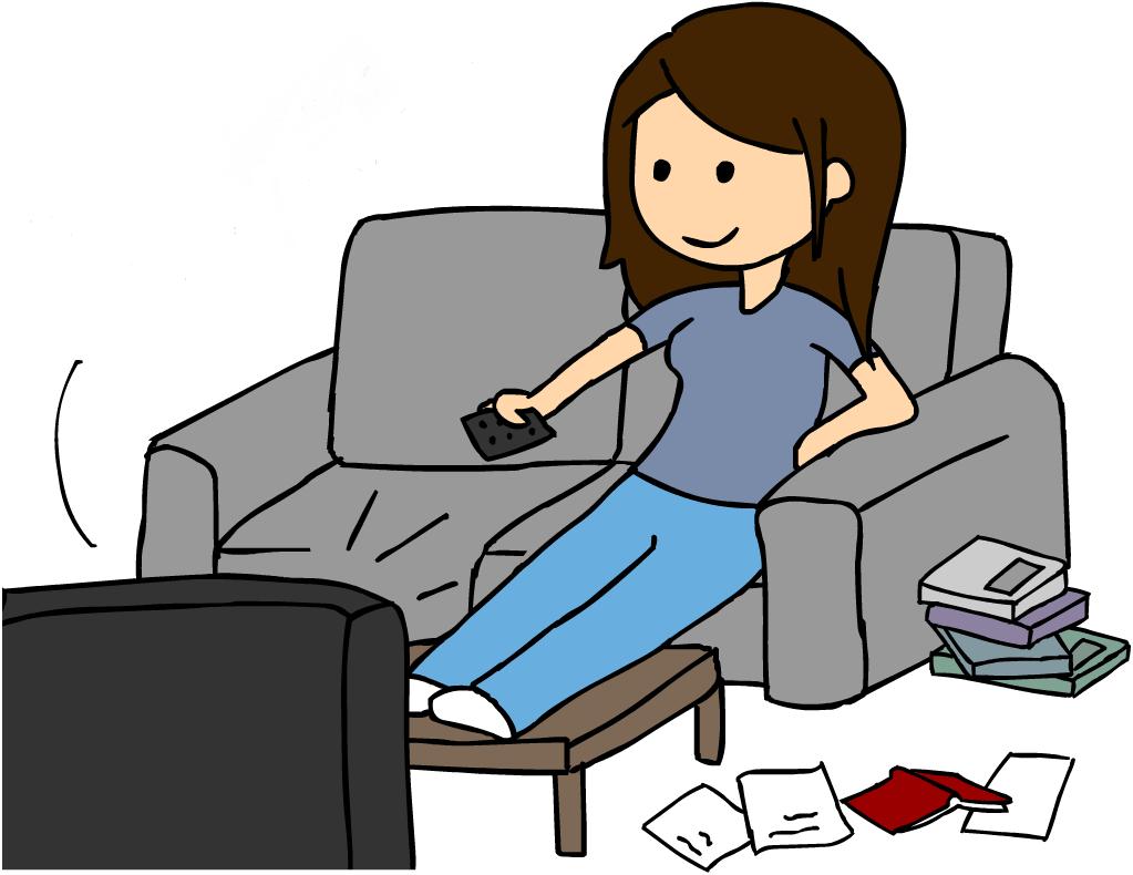 1023x790 Watching Tv Clip Art