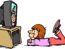 220x165 Watching Tv Clipart