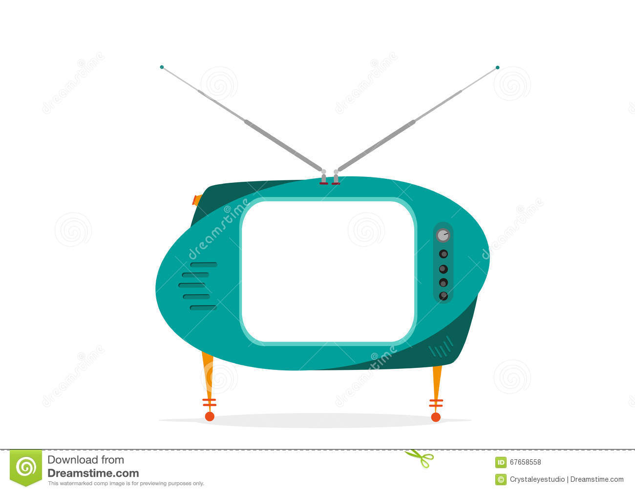 1300x1009 Green Clipart Television