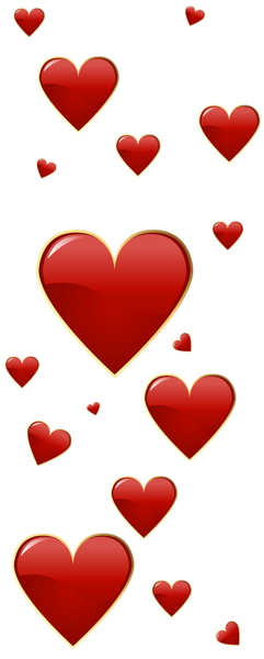 241x600 Valentine's Day Red Hearts Clip Art Clip Art