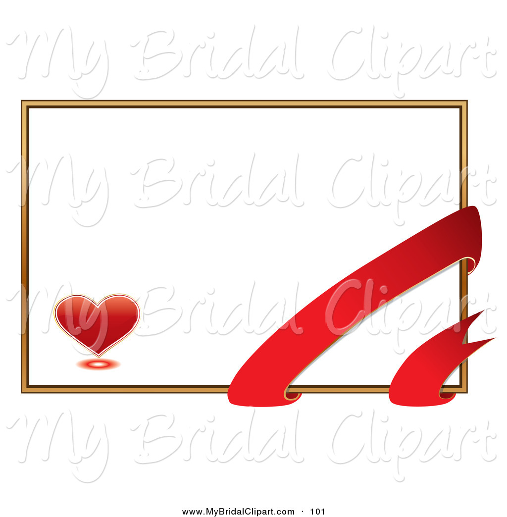 1024x1044 Bridal Clipart Of Romantic White Valentine's Day Card