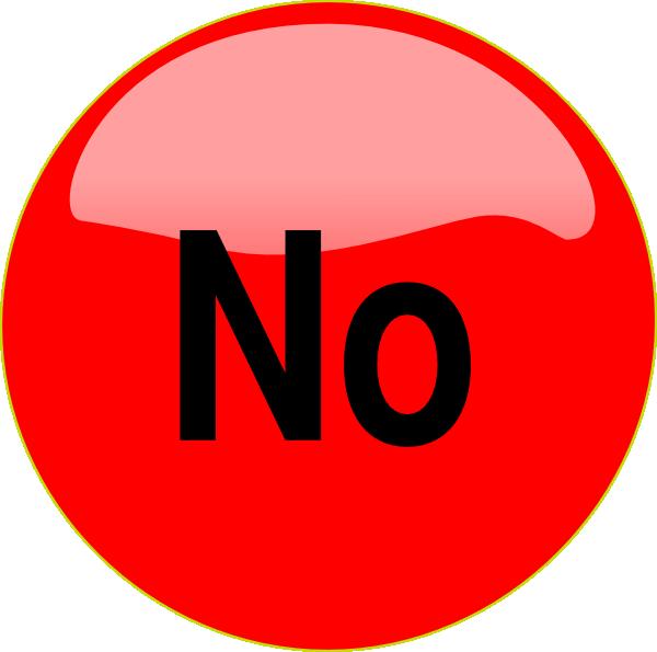 600x595 Clip Art No No Button Clip Art