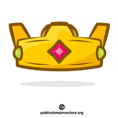 500x500 Crown Cartoon Vector Clip Art Public Domain Vectors