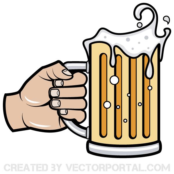 600x600 Free Beer Bottle Vector Clip Art 123freevectors