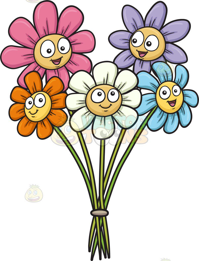 782x1024 Limited Flower Cartoon Pictures Clip Art In Pot Illustration Stock
