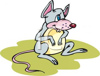 350x265 Picture Of Cute Cartoon Mouse Sitting In A Vector Clip Art