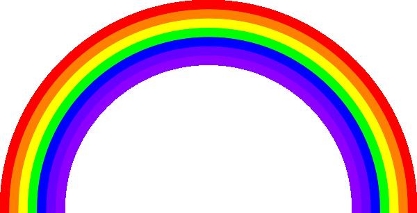 600x307 Rainbow Clip Art Free Vector 4vector
