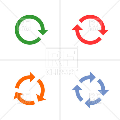 400x400 Set Of Thin Round Arrows Royalty Free Vector Clip Art Image