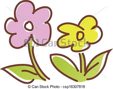 450x353 Two Flowers Clipart A View Of Two Flowers Vector Clip Art Search