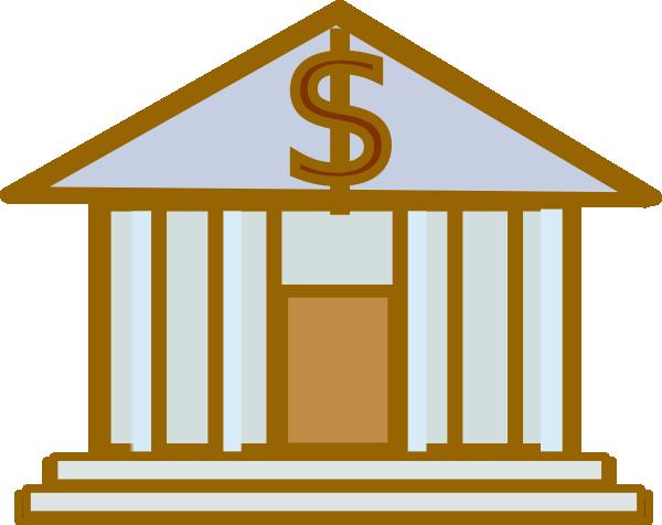 600x476 Bank Clipart Bank Dollar Brown Clip Art