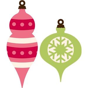 300x300 Clip Art Vintage Christmas Ornaments